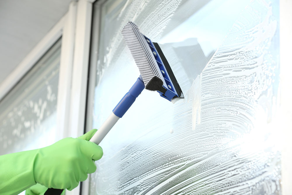 Window cleaning: Janitorial services by Scopes Facility Services, Inc. Cartersville GA